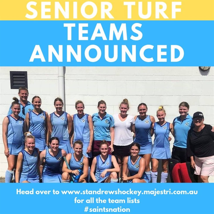 Senior  Turf  Teams  Announced